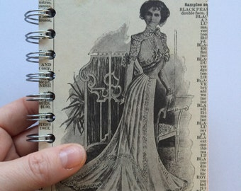 Standing Woman Scrap journal - 5 x 4 spiral bound