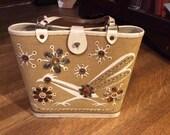 SALE / Enid Collins Roadrunner Handbag / Genuine Enid Collins Bag / Mid Century Handbag