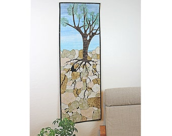 Quilted Wall Hanging, Fiber Art, Nature Scene