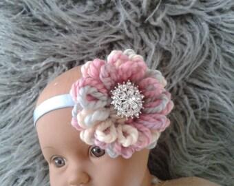 Newborn Girl  Photo Prop headband,Baby girl  Headband,Baby girl knit  headband.