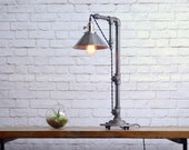 Industrial Table Lamp - Table Lamps - Industrial Style Lamp - Barn Lighting - Steel Shade - Desk Lamp - Steampunk