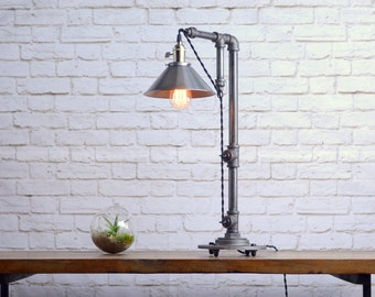 industrial table lamp table lamps industrial style lamp barn lighting steel shade