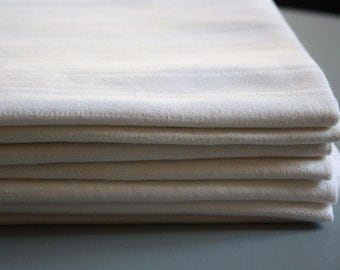 set of 7 vintage pure linen  towels , damask linen