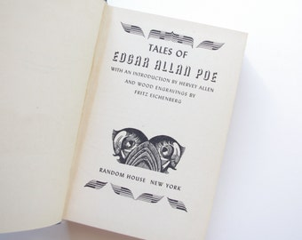 Tales of Edgar Allan Poe with Wood Engravings by Fritz Eichenberg - 1944 Random House