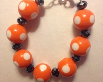 Black and Orange Halloween Bracelet