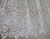 cotton lace fabric with retro floral, natural cotton lace fabric