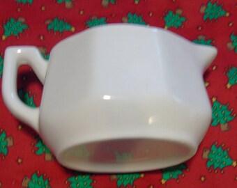 Vintage USA White Ceramic Creamer