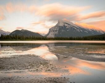 Banff Landscape Photography Print - Canadian Rockies Sunset - Canada - Rocky Mountain - MetalPrint - 11x14 16x20 20x30 24x36 30x40