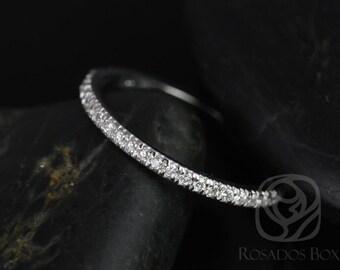 Rosados Box White Gold Matching Band to Callie/Becca Glitter Pave Diamonds HALFWAY Band