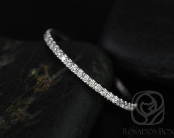 14kt White Gold Matching Band to Brianna Diamonds ALMOST Eternity Band (Other Metals Available)