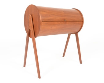 Danish Mid Century Modern Atomic Teak Sewing Box