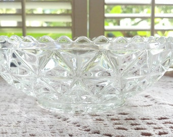 Vintage Lead Crystal Serving Bowl Candy Dish