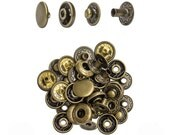 12.5mm Antique Brass Spring Snap - 10 Pack #115-125105