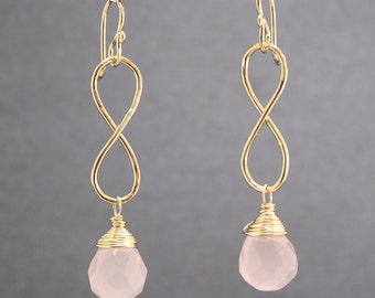 Your choice of gemstone on hammered twist shape earrings Venus 92