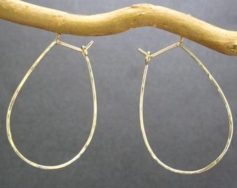 Hoop Earrings Large Teardrop