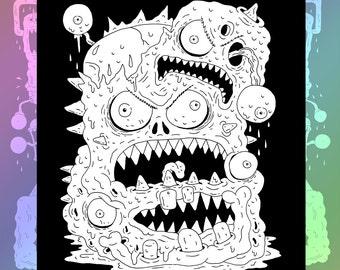 Monster Back Patch in Black