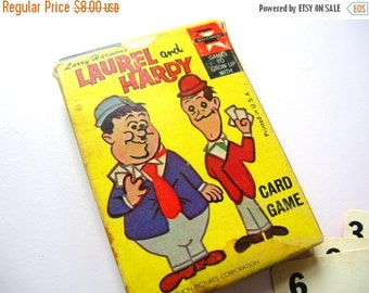 July Sale Vintage Game - Laurel and Hardy Game - Vintage Card Game - Vintage Cards