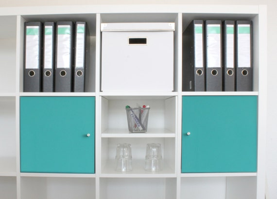 Extra compartment for ikea kallax shelf with shelf white for Porte kallax