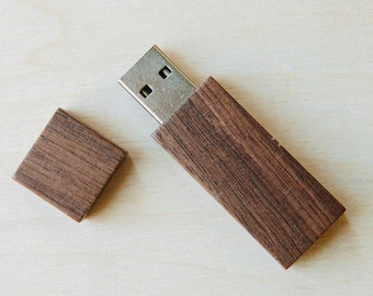 8gb or 16gb Brown wood USB flash drive