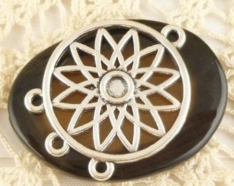 Sunflower Dream Catcher Charms Pendants,  Antique Silver (4) - S51