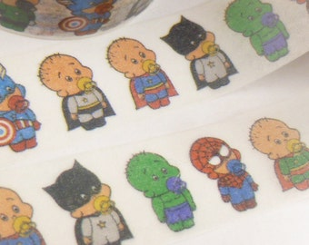 Super Hero Babies Washi Tape - OO2101