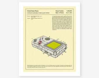 Gameboy Patent 1993 (Giclée Fine Art Print, Photo Print or Poster Print)