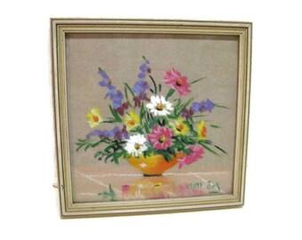 vintage artwork, Mabel C. Heyde aka Mimi Joy, pastel floral still life, 1960s