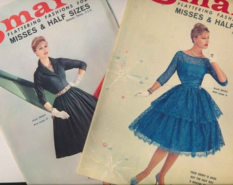 2 vintage dress catalogs / Grace Smart / full skirts / wiggle dresses /1950's