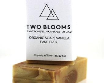 Earl Grey Vanilla Soap, Handmade, Vegan, Organic, Victoria BC, Vancouver Island