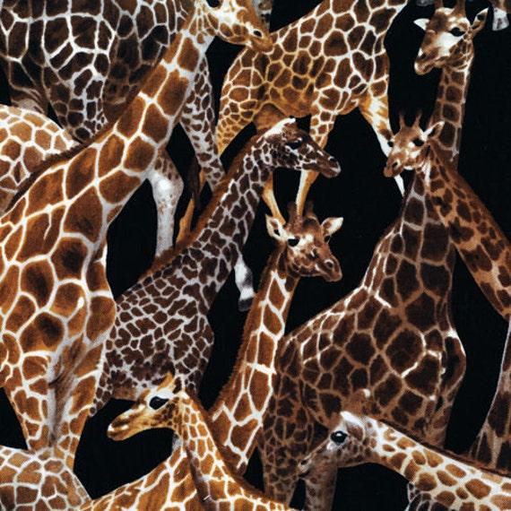 Fat Quarter Giraffe Living Wonders 100% Cotton Quilting Fabric