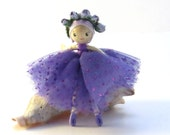 Little ballerina doll, miniature bendy doll, purple small doll, poseable doll, miniature ballet dancer, purple ballerina, little dancer