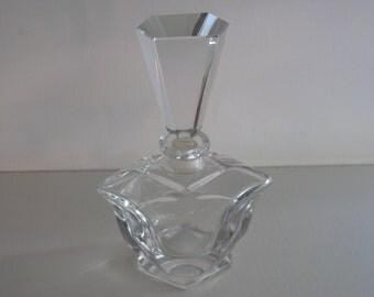 Art Nouveau PERFUME Bottle/COLOGNE Bottle/Vintage Perfume Bottle/Ladies Perfume Holder/Art Deco Perfume Bottle/Cut Glass Perfume Bottle