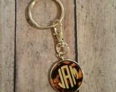 Monogram Key Chain - Personalized Monogrammed  Keychain