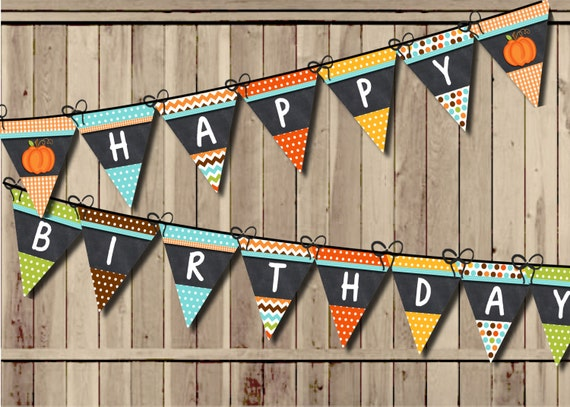 Pumpkin Birthday Banner, Little Pumpkin Banner, Fall ...