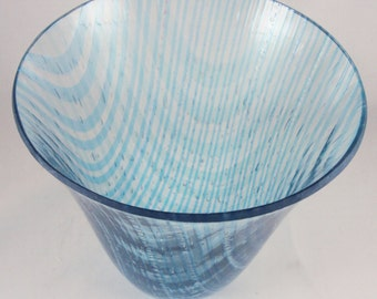shades of turquoise and blue vessel
