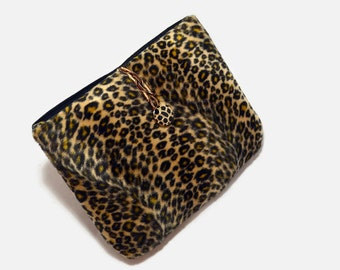 Handcrafted, Tablet Case, iPad Mini Cover, Animal Print, Leopard,  Kindle Fire Sleeve, Tablet Sleeve, Cozy, FOAM Padding, Holiday Gift