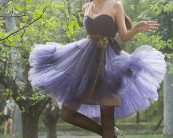 tulle skirt tulle dress tutu skirt  tutu  dress,lolita dress, princess dress ,tutu dress,tulle wedding dress in navy blue