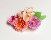 Dollhouse Miniature Clay Peony Flower 7 pieces