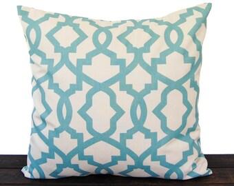 Throw Pillow, Pillow, Cushion, one pillow cover light smokey blue natural scroll Village Blue home decor Sheffield