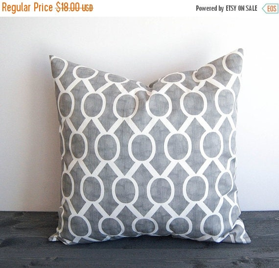 Autumn Throw Pillow Covers : FALL SALE Gray throw pillow cover 20