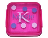 Personalized Sandwich Container, This order is for 1 PINK Container,  Kids Lunch Box, Daycare Lunch Box, School Box, Locking Lid