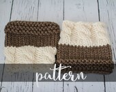 PATTERN // PDF (digitally delivered and permission to sell) Reversible Boot Cuffs, Two in One Design, Easy Boot Cuff Pattern, Leg Warmers