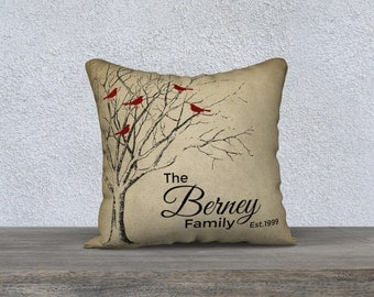 Family Tree Personalized Pillow COVER, wedding gift, anniversary gift, Personalized gift for wife, throw pillow, throw cushion cover