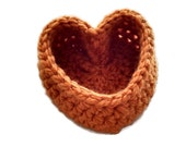 Heart Basket, Basket, Pumpkin Color