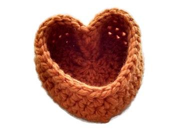 Heart Basket, Basket, Pumpkin Color