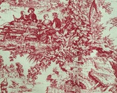Red Toile Cotton Fabric