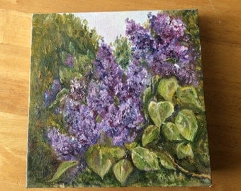Wall Art oil painting lilacs