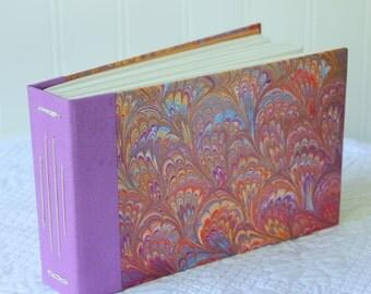 Handmade Blank Book - Notebook, Travel Journal, Art Journal, Guest Book - Hand-Marbled Hard Cover - item #26/100
