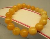 Amber Fashion Elegant Bracelet Fine 14.62 Gr Round Yellow White Color Handmade #192