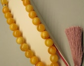Amber Islamic Prayer Worry Beads 34.15 Gr Yellow Orange Round Perfect Color Handmade #212